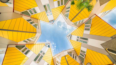 Take a ferry to Rotterdam and see the famous Cube Houses