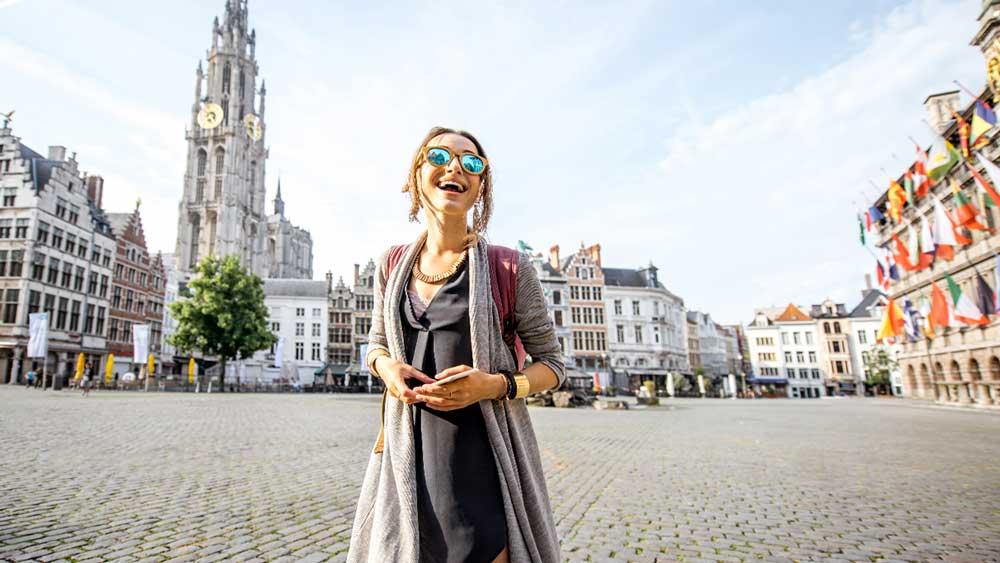 Antwerp Square in Belgium