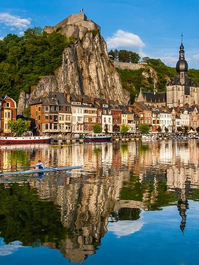 Dinant River in Belgium