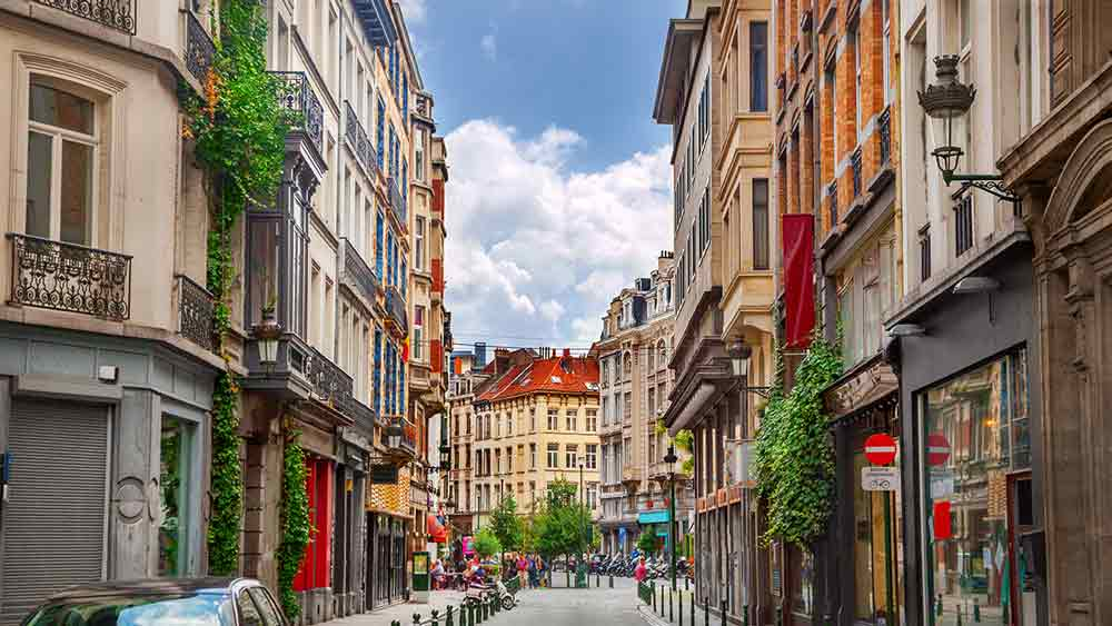 Street in old town Brussels