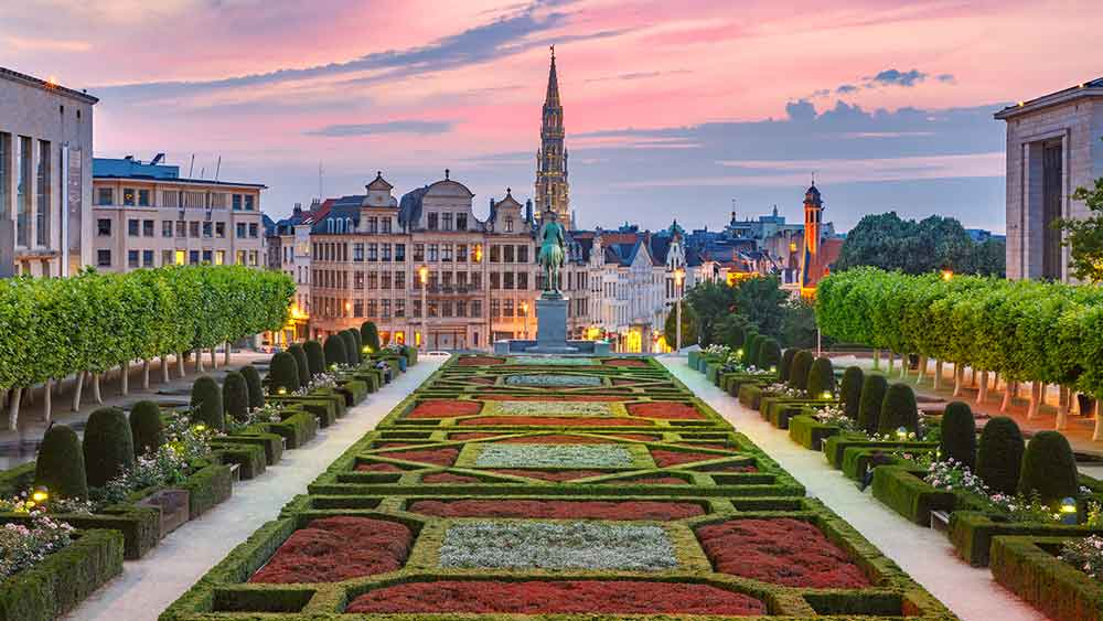 City Hall and Mont des Artes Brussels