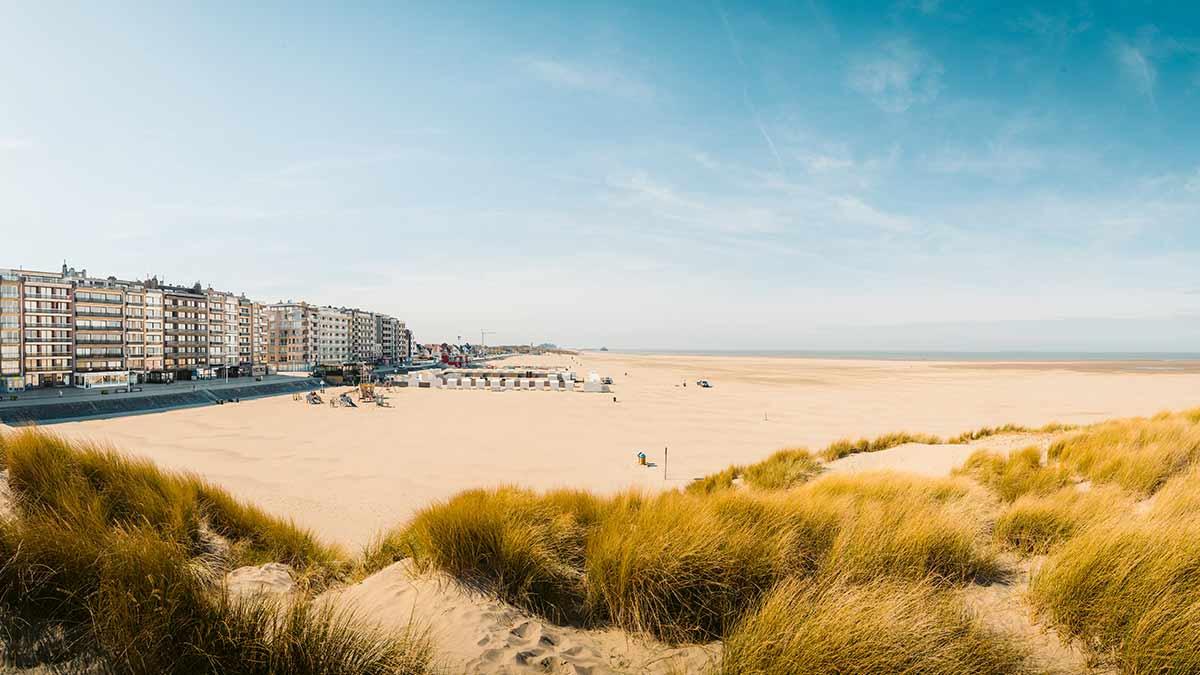 Beach in Flanders Belgium