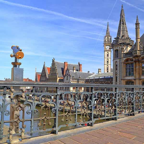 St Michaels Bridge View in Ghent