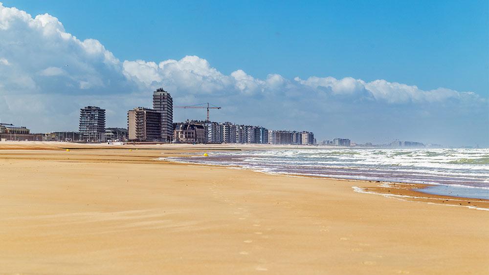 Beach view in Ostend