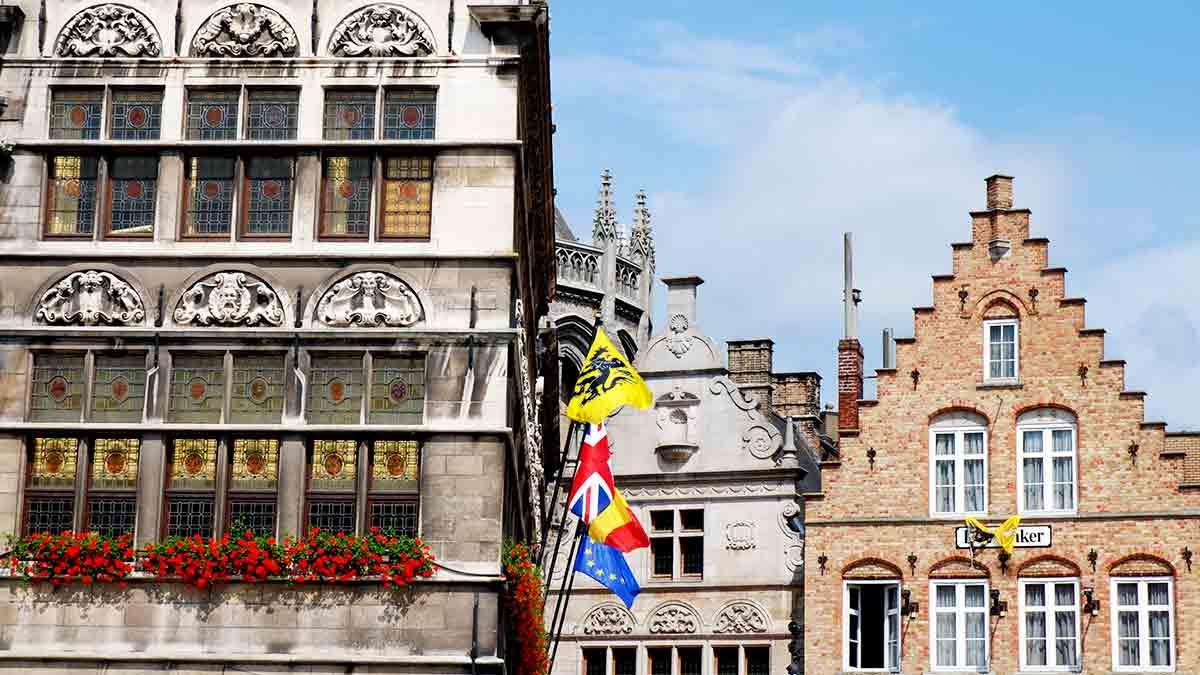 Architecture in Ypres, Belgium