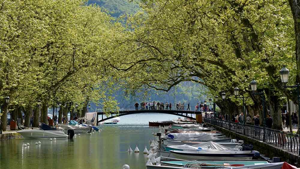 Lovers Bridge in Annecy, France