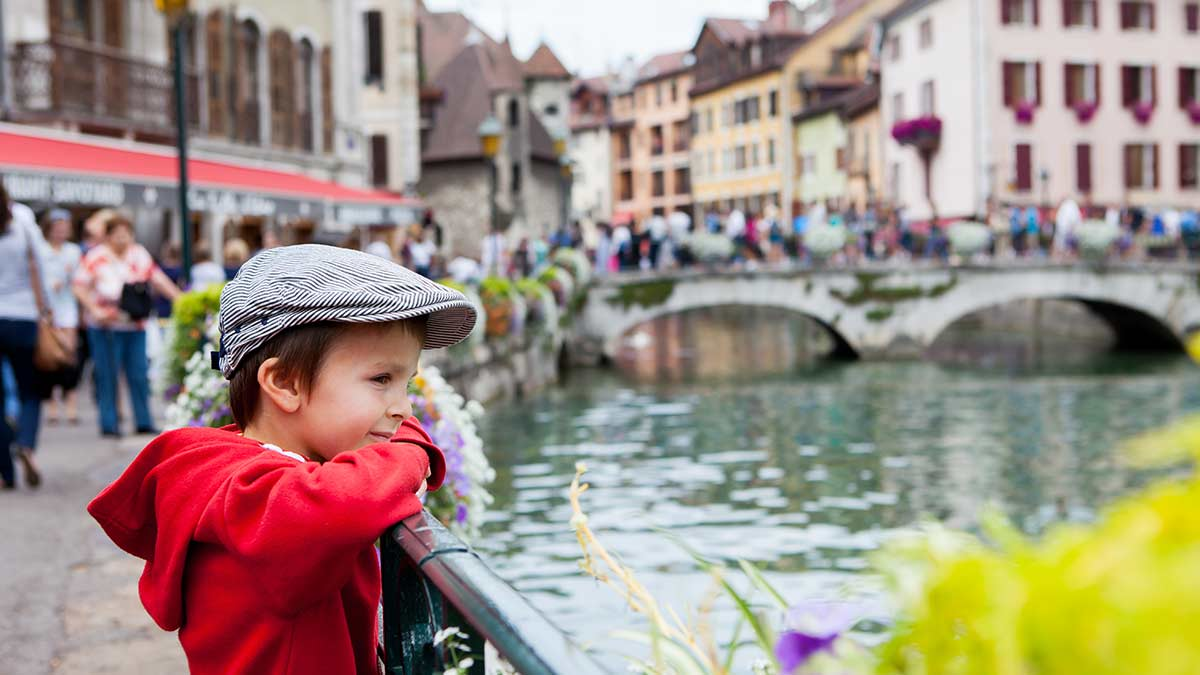 Canal and Bridge in Annecy