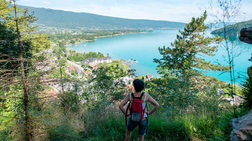 Hiking at Lake Annecy, France