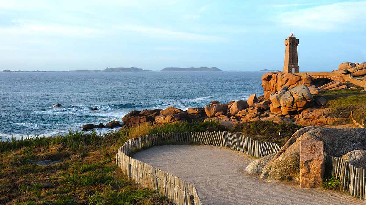 Seascape of Brittany in France