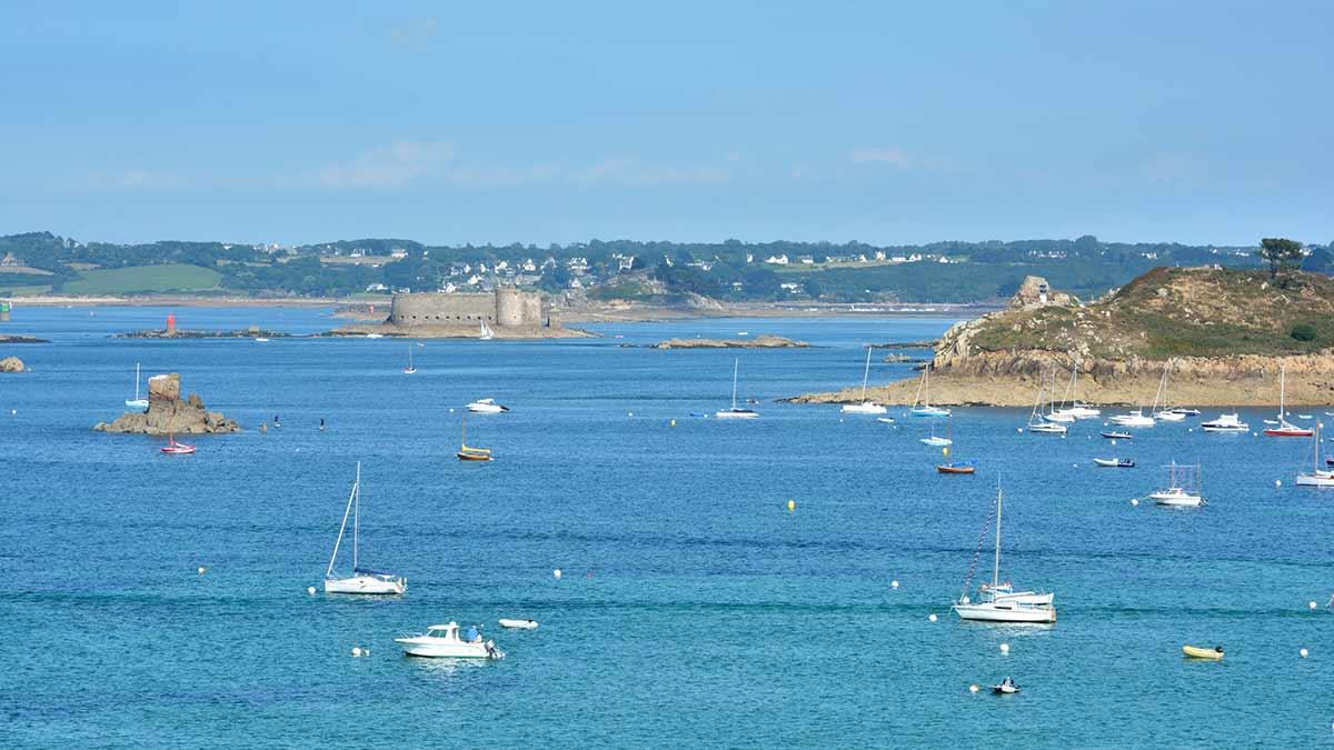 Morlaix Bay in Brittany, France