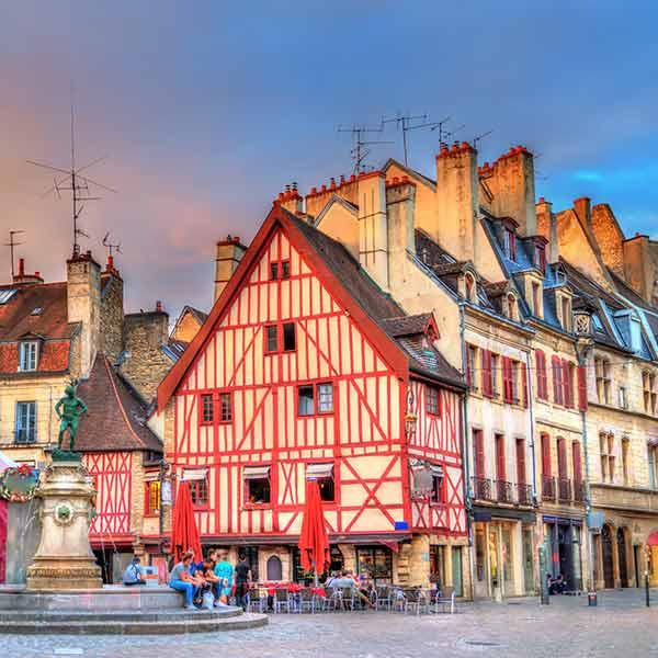 Dijon old town in France