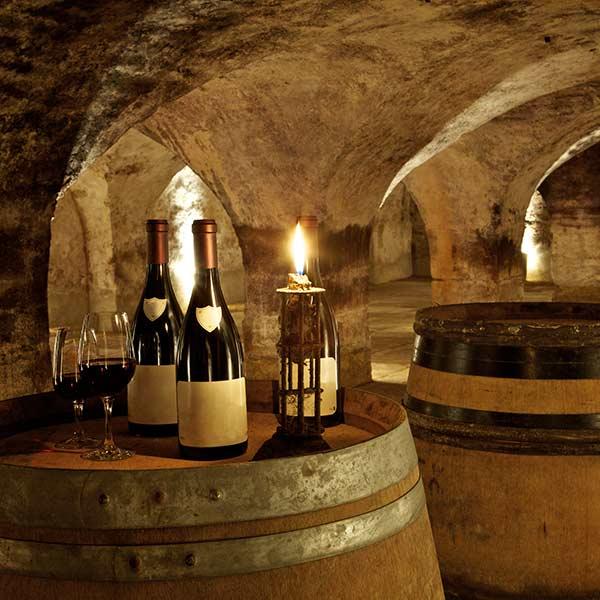 Red wine cellar, Burgundy vineyard