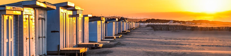 Calais beach at sunset