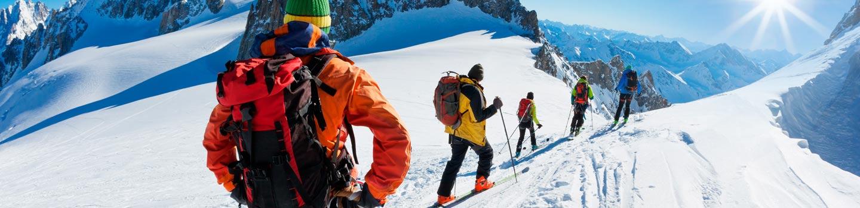 Skiing in Chamonix, France
