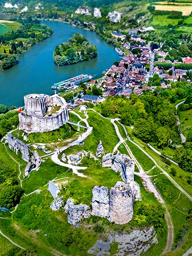 Chateau Gaillard Les Andeleys in Normandy, France