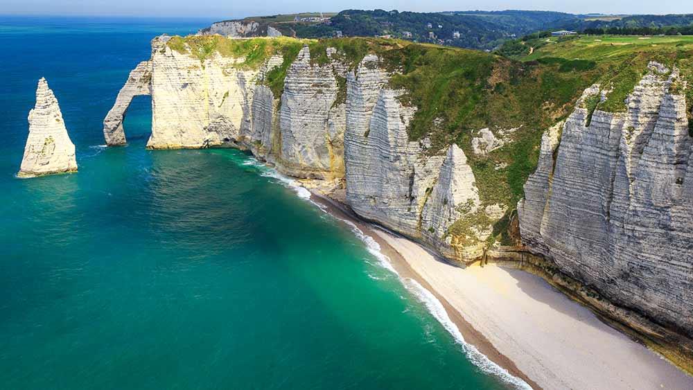 Etretat in Normandy, France