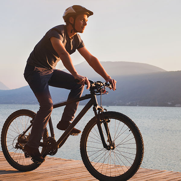 Electric mountain biking adventure