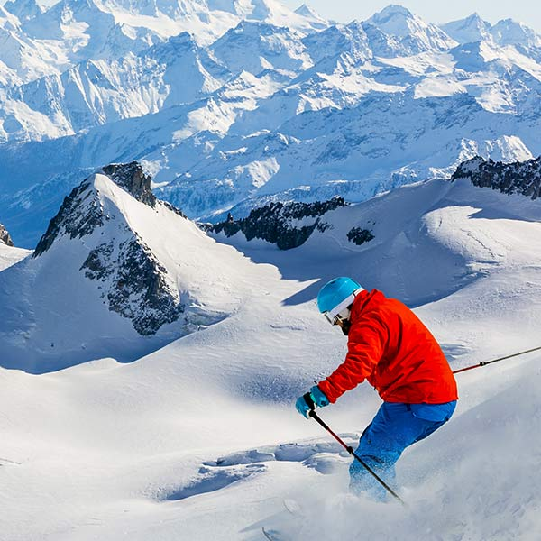 French alps skiing resort France