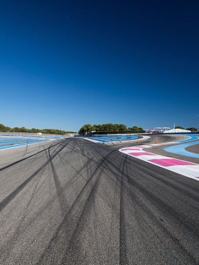 Race track in Le Mans