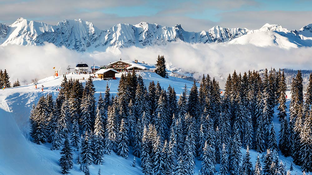 Megeve Skiing Resort in the Alps in France