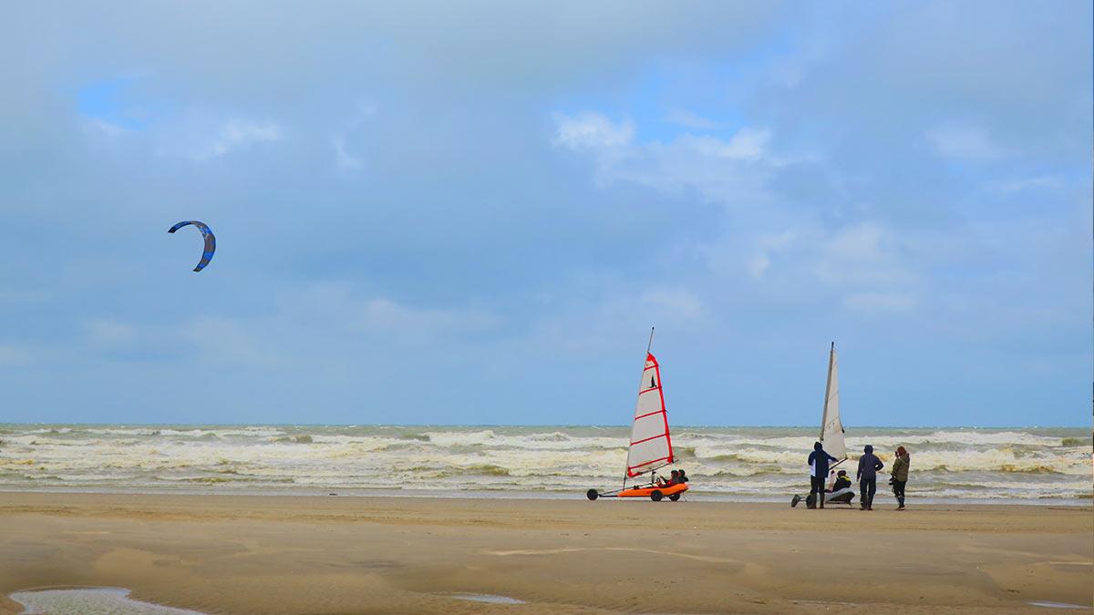 Sandy beach of Le Touquet