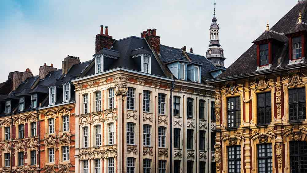 Old town architecture in Lille
