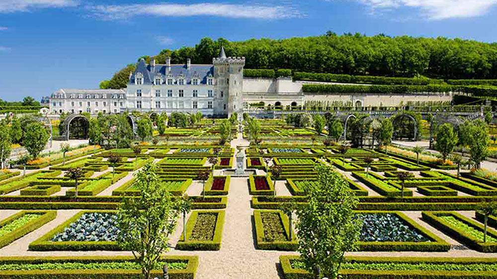 Villandry Castle And Gardens in Loire Valley