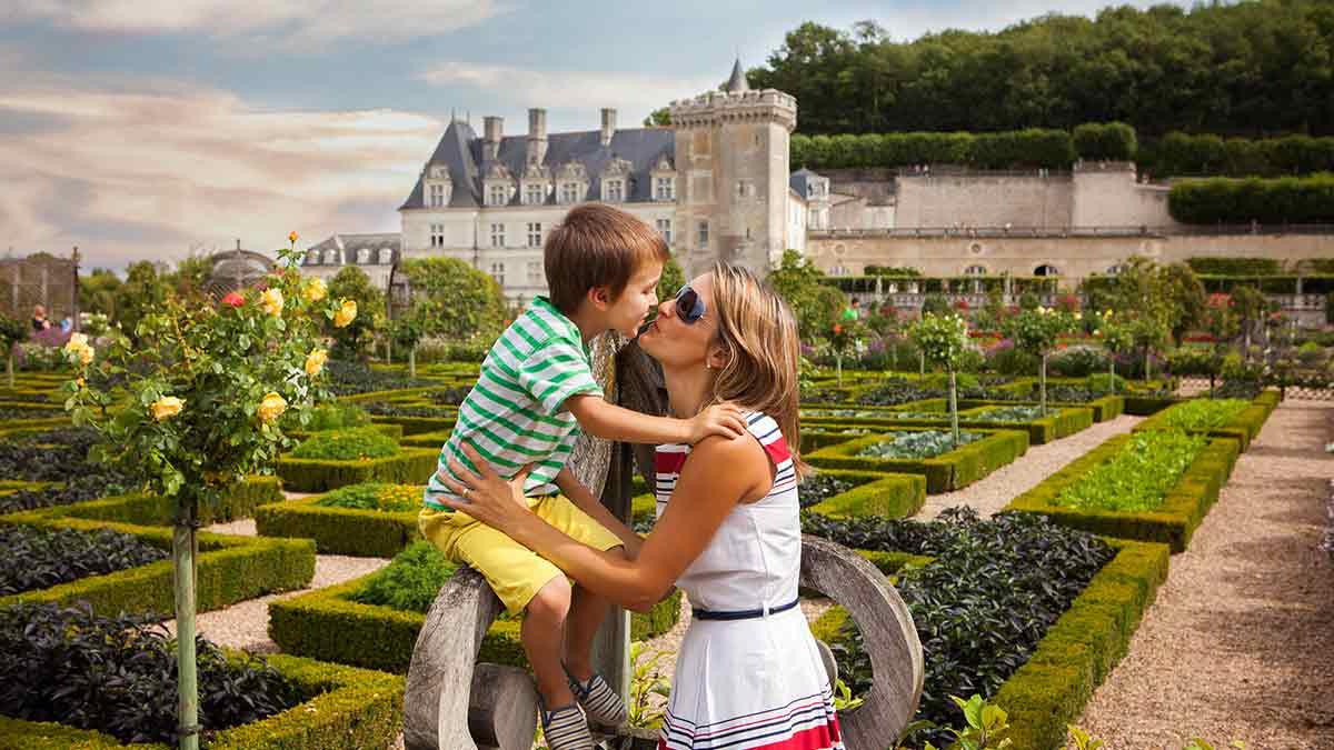 Villandry Castle in Loire Valley