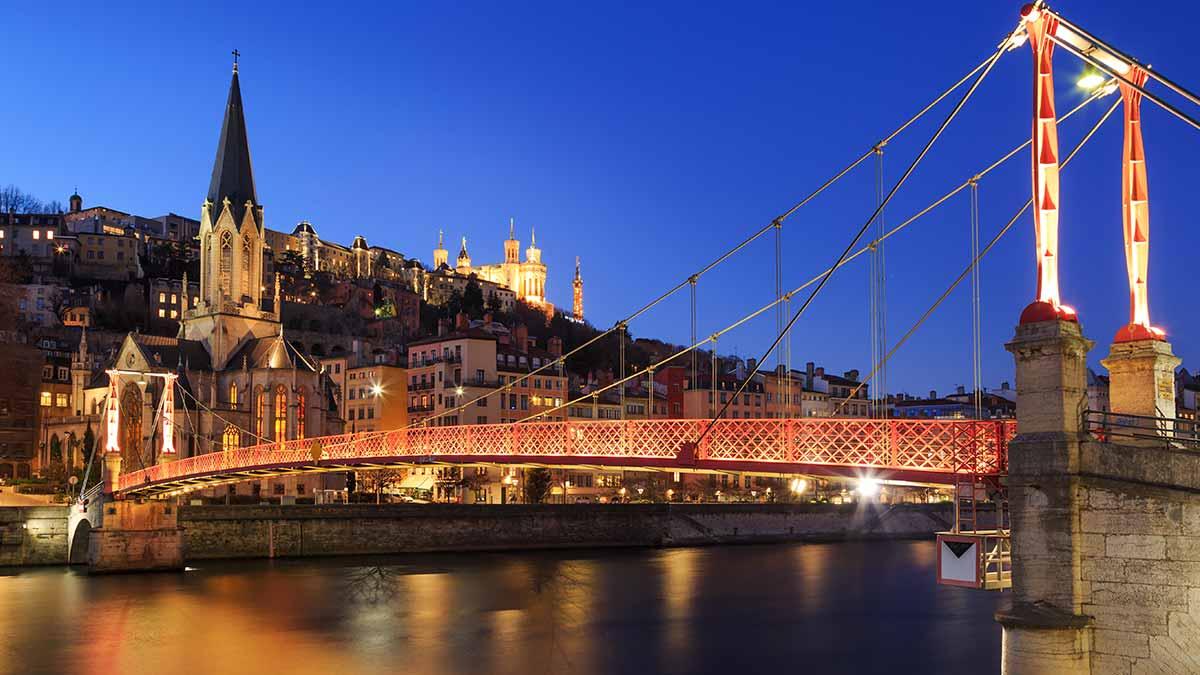 St Georges Footbridge in Lyon