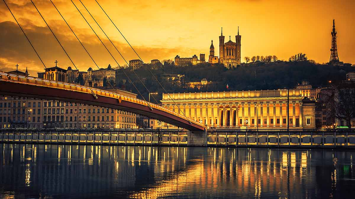 Sunset in Lyon