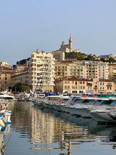 Marseille Port in France
