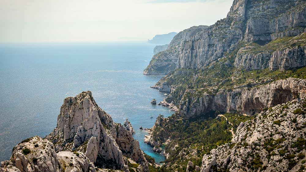Calanque in Marseille France