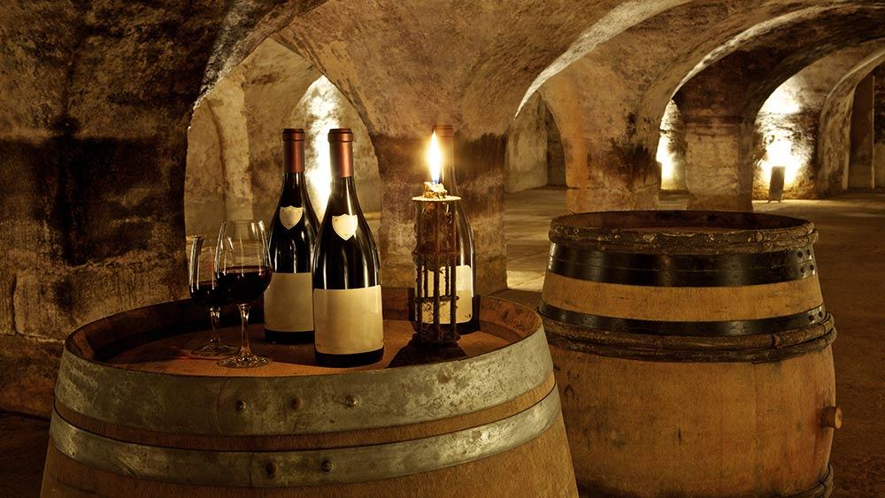 Old cellar in Burgundy, France