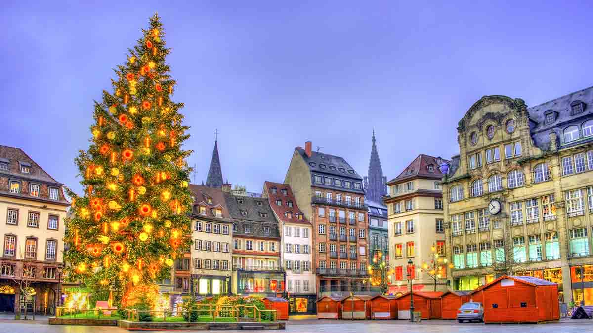 Christmas Market Decorations in Strasbourg