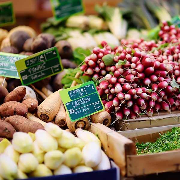 Farmers market food in Strasbourg