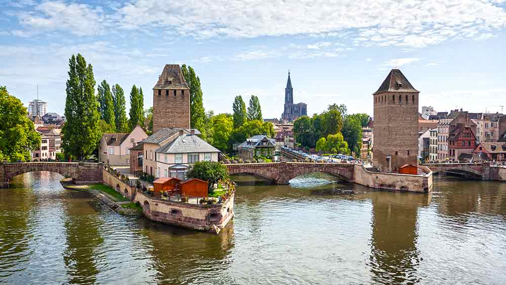 Ponts Couvert Medieval Bridge in Strasbourg