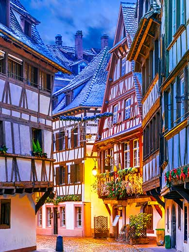 Old town architecture in Stasbourg