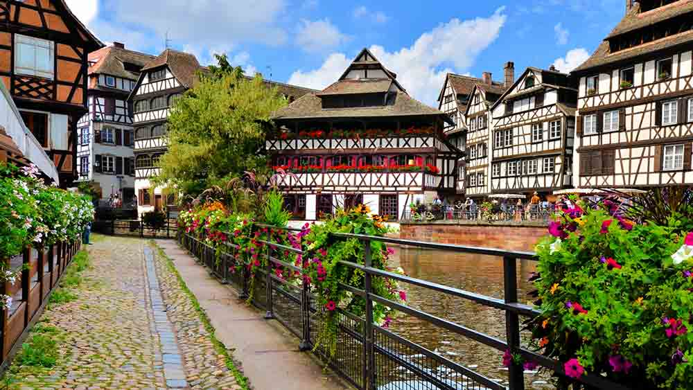 Timbered houses in Strasbourg, France