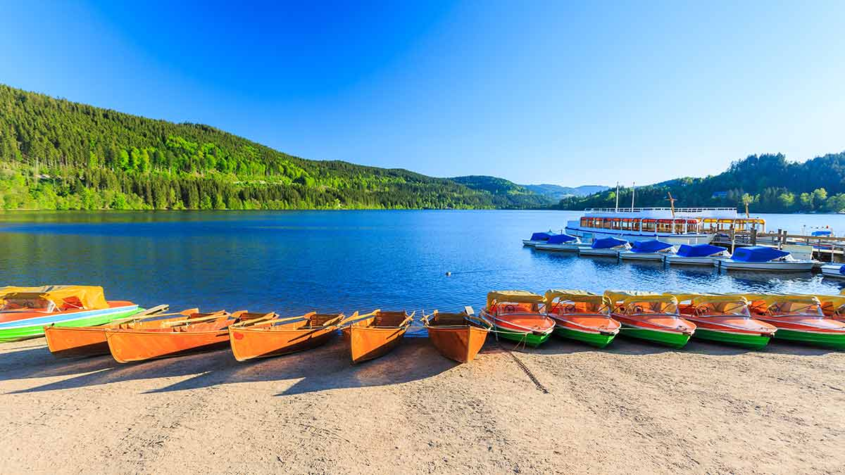 Lake Titisee in Black Forest, Germany