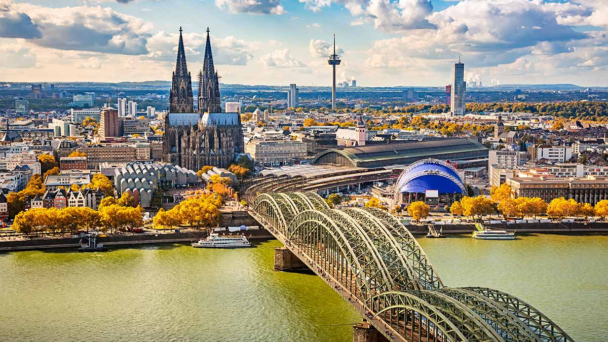 Cologne skyline in Germany