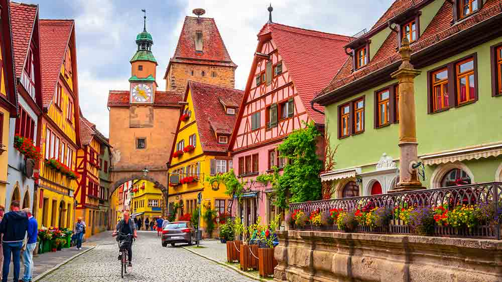 Cobbled streets in Rothenberg, Germany