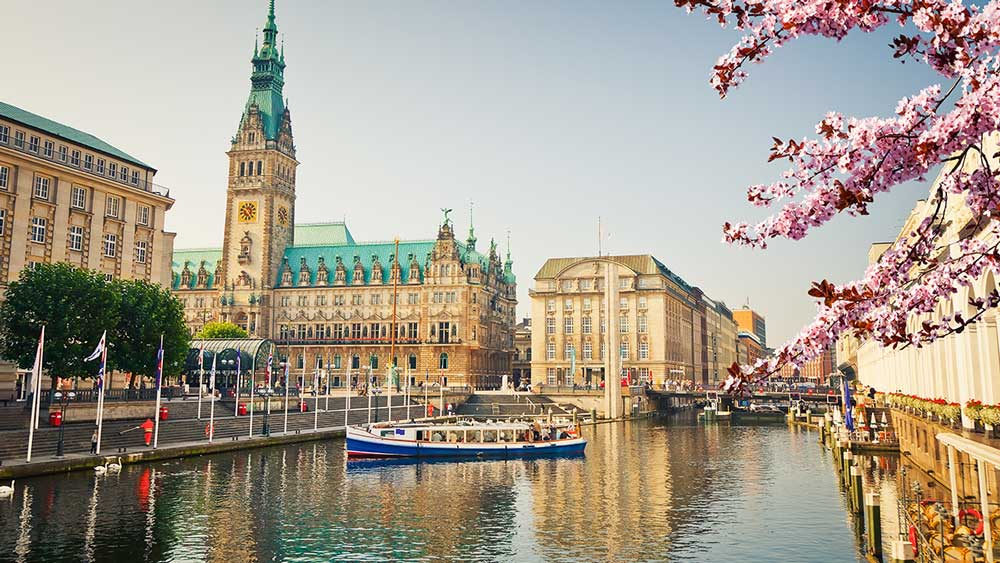 Hamburg Town Hall in Germany