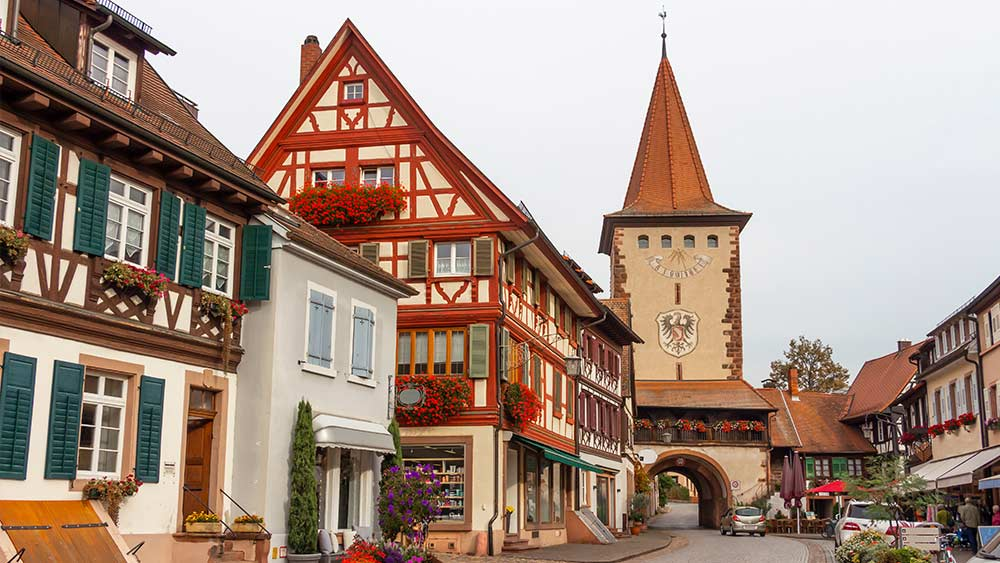 Fairy tale city in Southern Germany