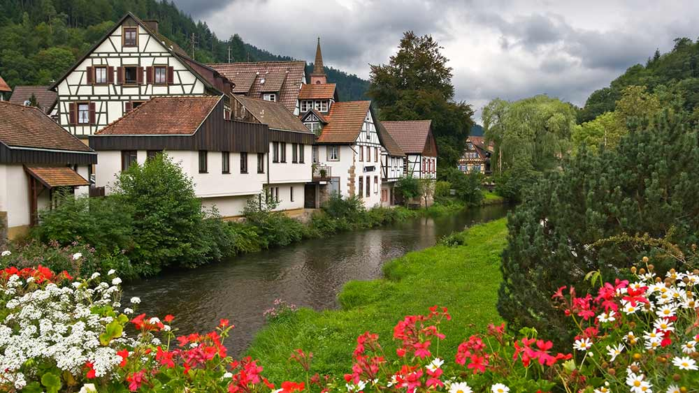 Village in the Black Forest region in Germany