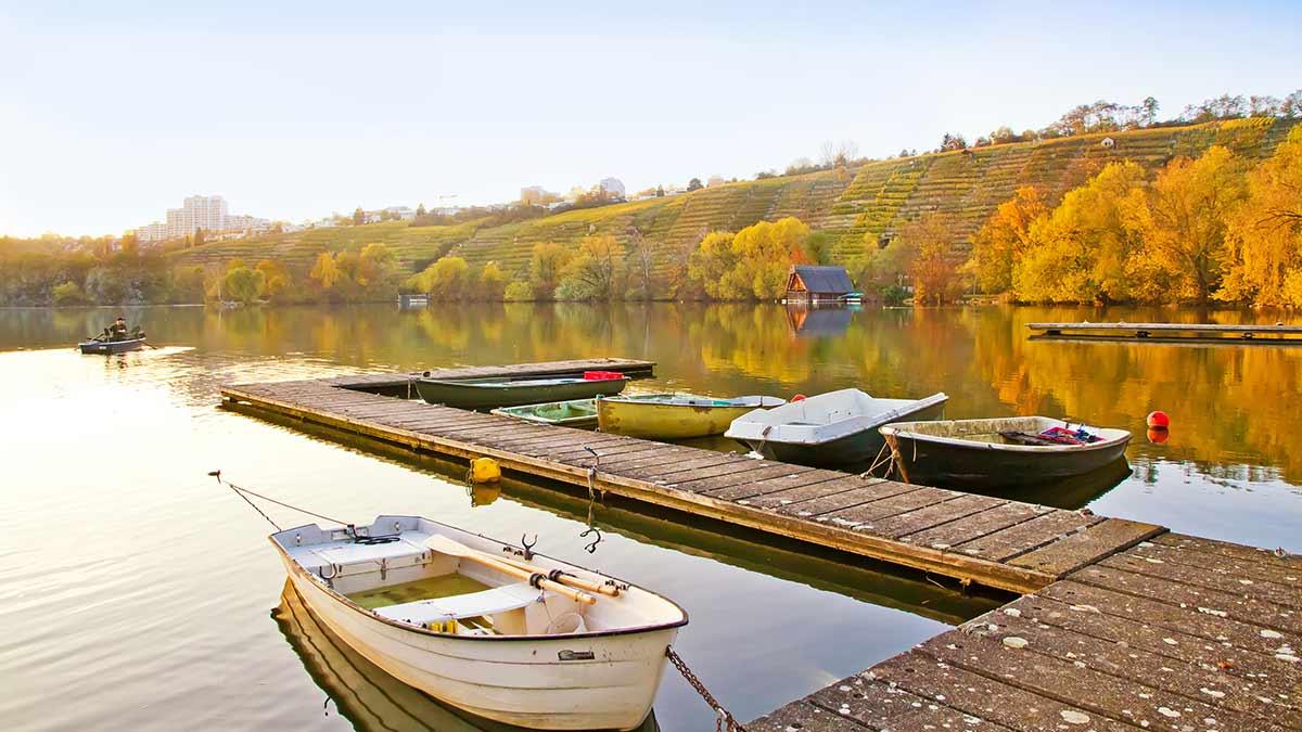 Lake in Stuttgart, Germany