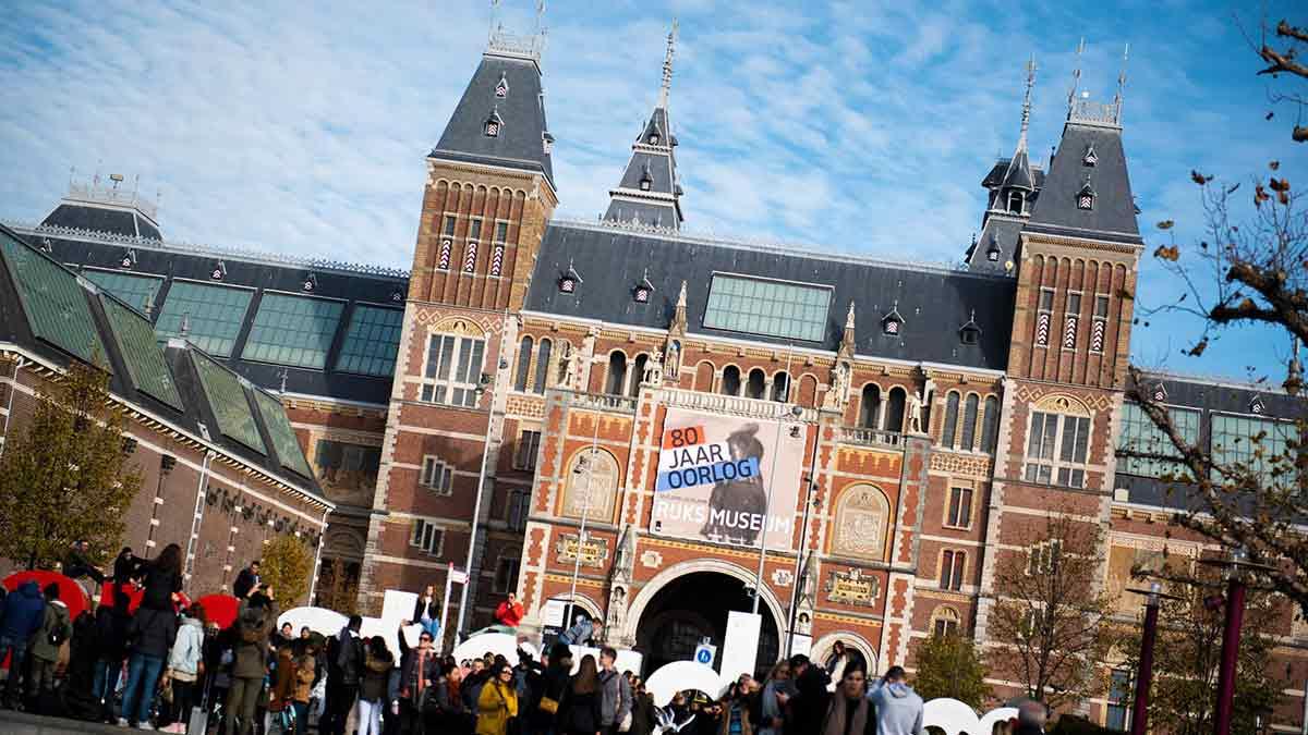 The Rijksmuseum in Amsterdam, the Netherlands