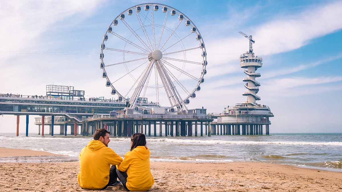 Attractions in the Netherlands - The Hague beach, Holland