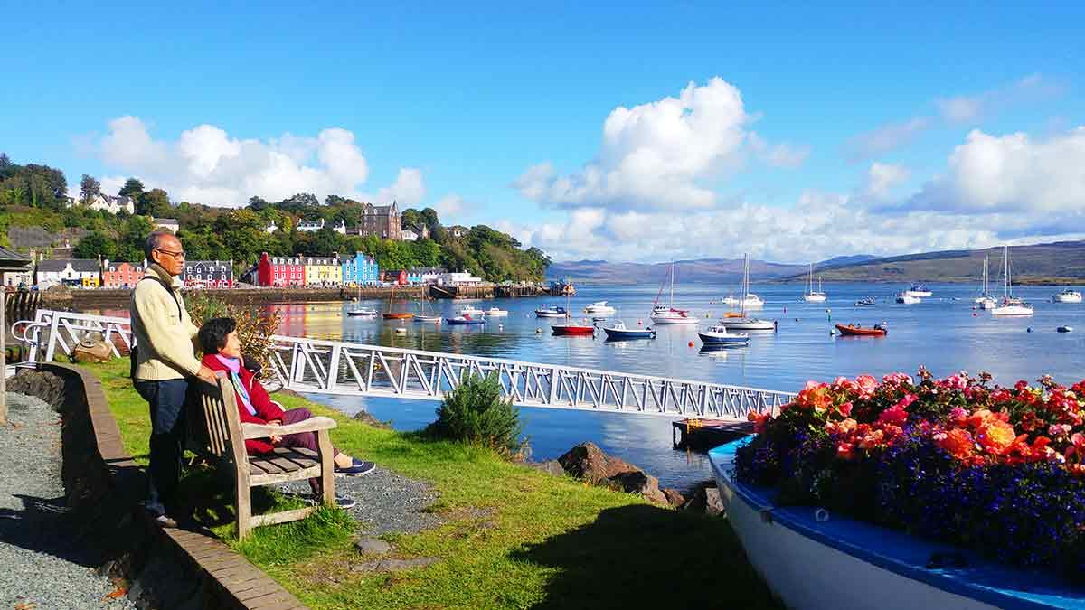 Boats in Tobermory, Scotland