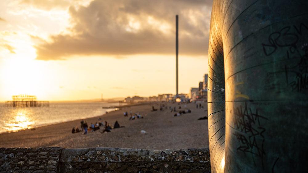 Brighton Beach at Sunset