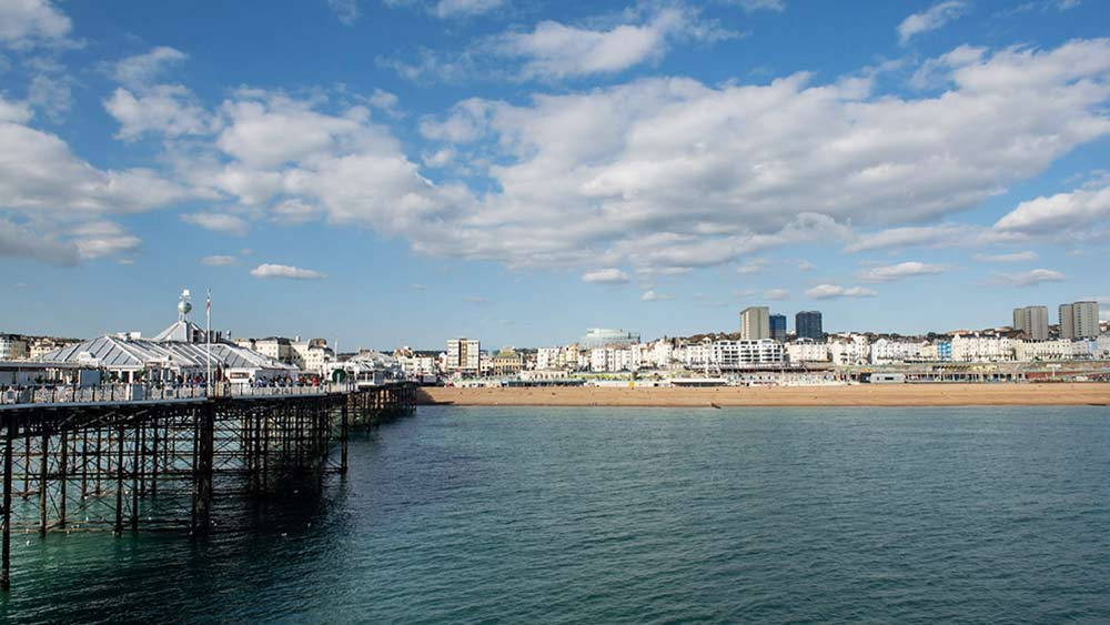 Brighton view from pier